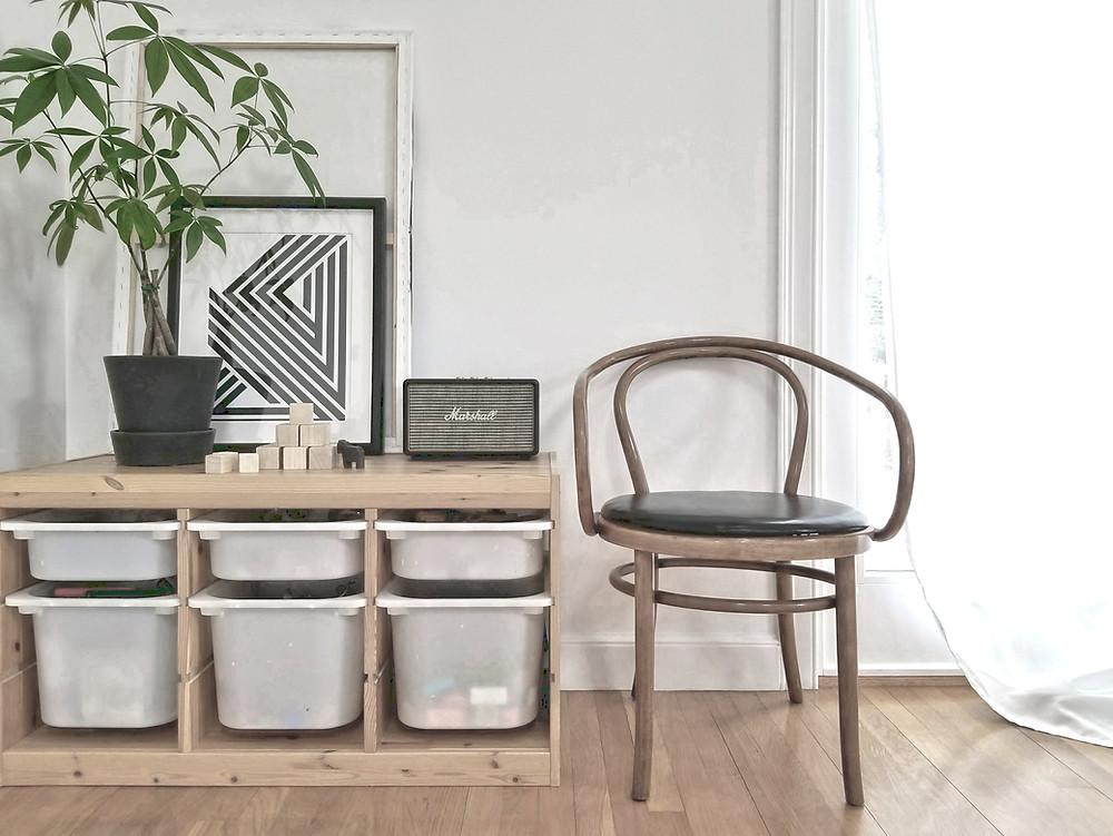 IKEA Thonet chair minimalism monochrome