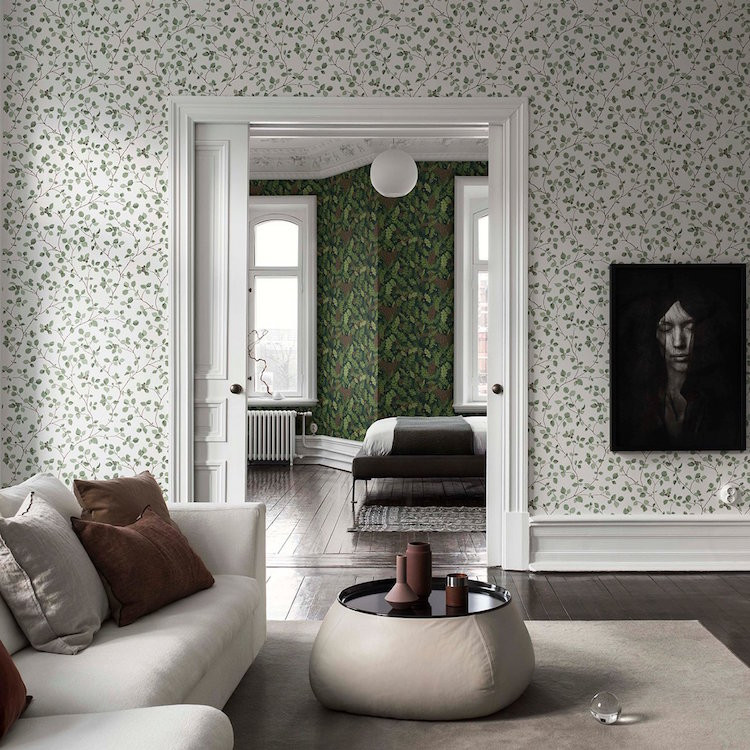 Hassel green wallpaper by Sandberg wallpaper