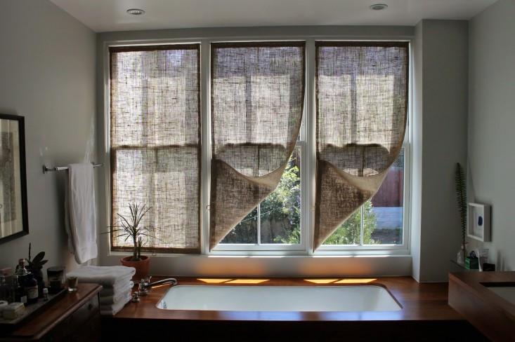 DIY burlup curtains