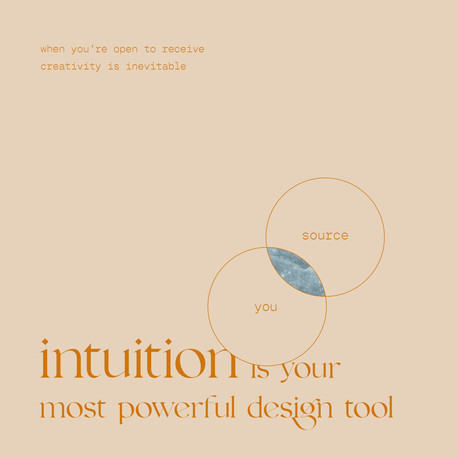 Intuition is your greatest design tool.