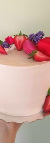 Strawberry Cream Tulip Cake