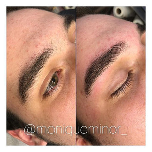 Men's before and after brow wax. _Book your appointment online today at moniqueminor.jpg
