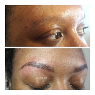 Attention world _glitteractive now has brows. What a great gift from her hubby for Xmas.jpg