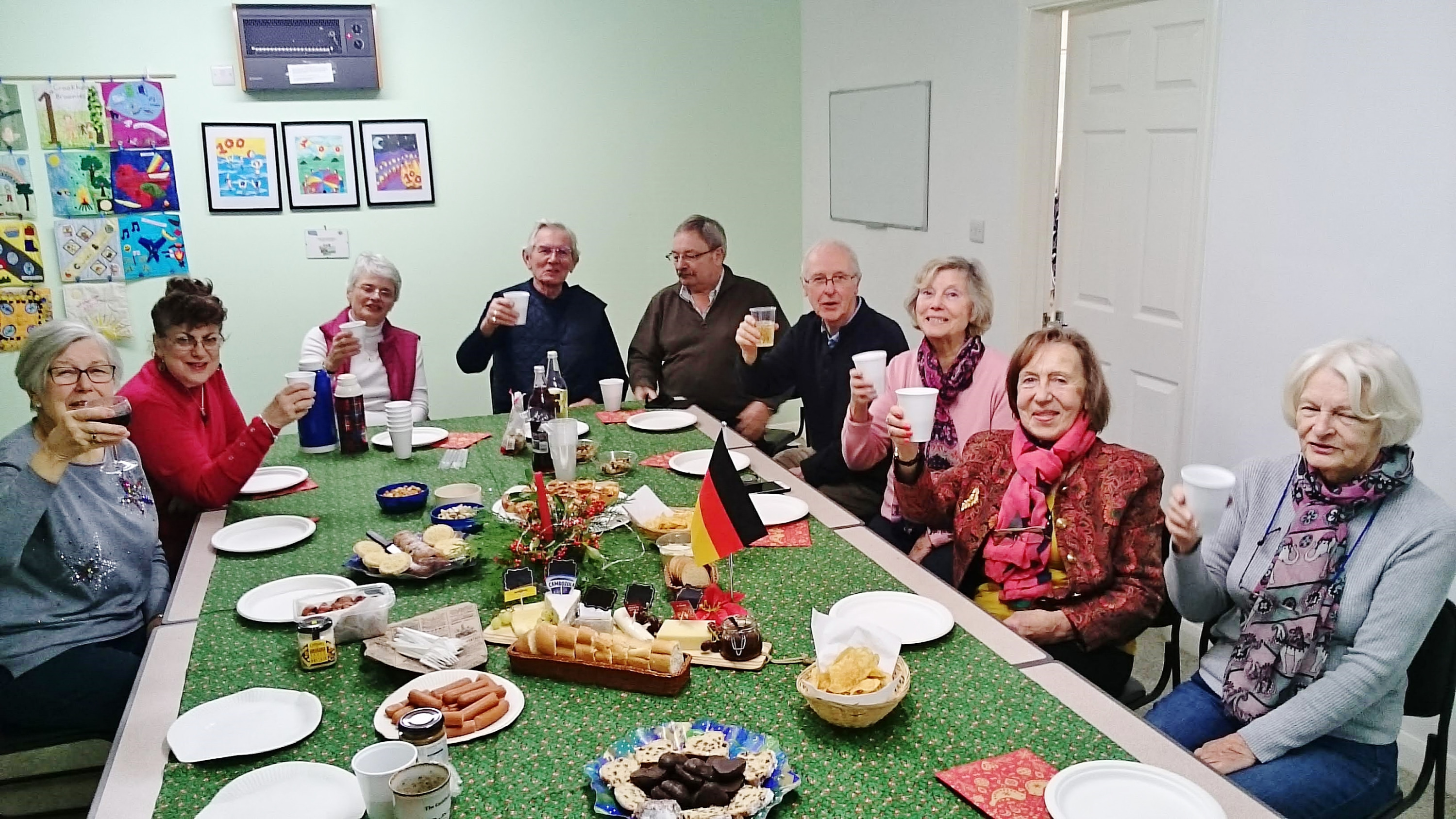 German intermediate group celebrate Christmas 2019