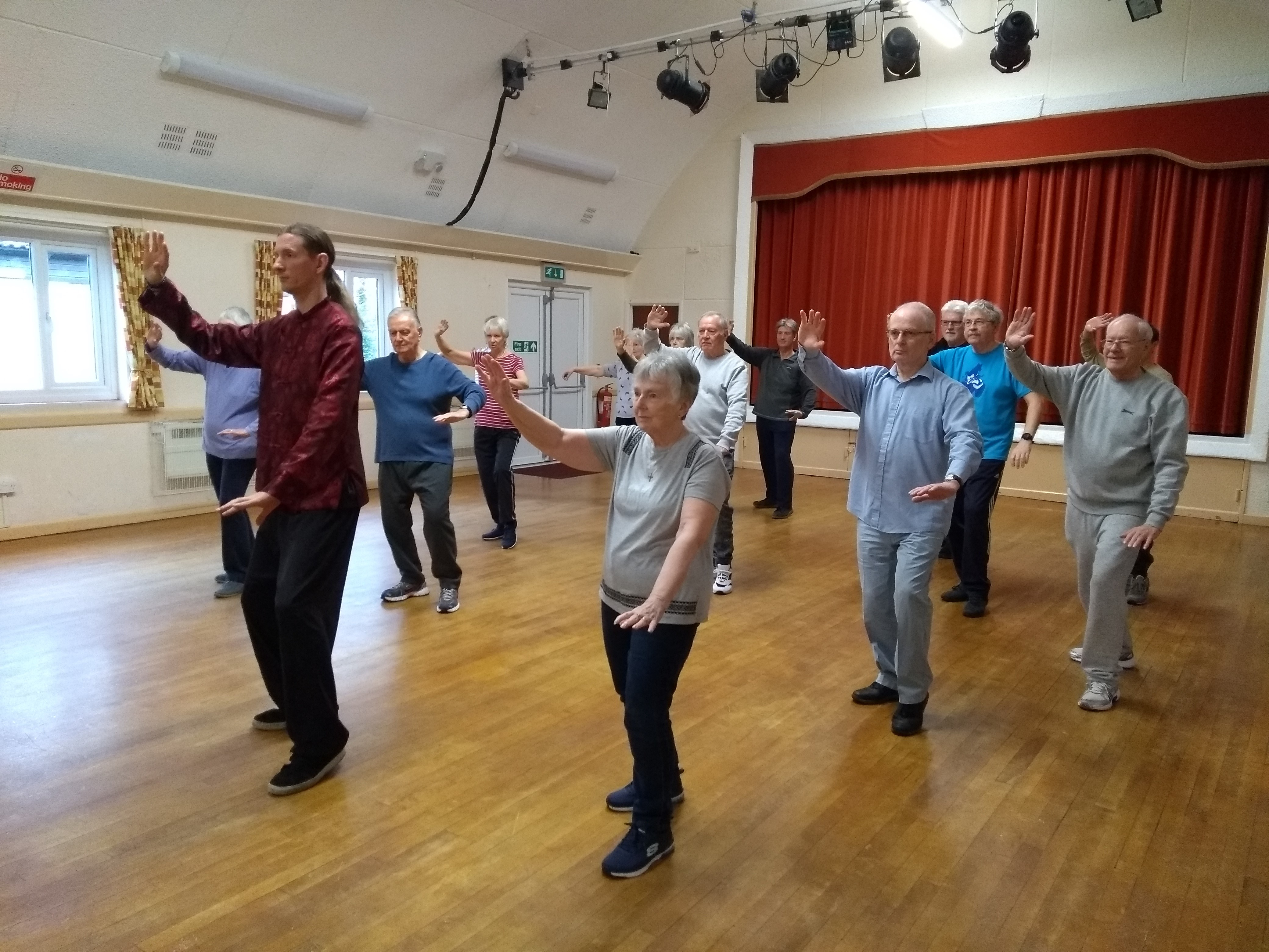 Tai Chi Class 1 in action