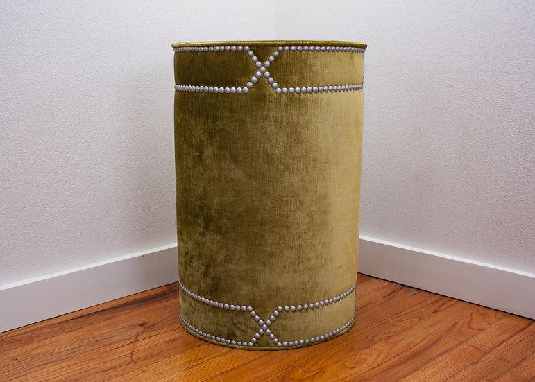 Green Velvet Drum Table