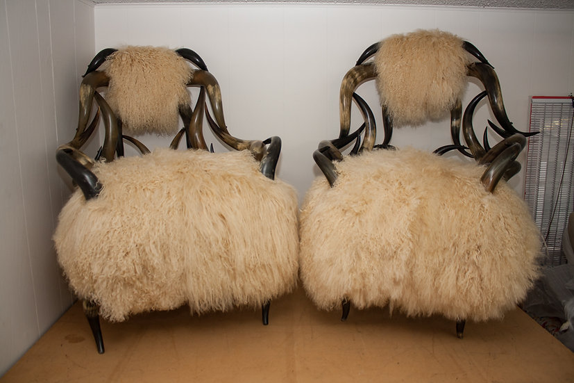 Vintage Horned Chairs