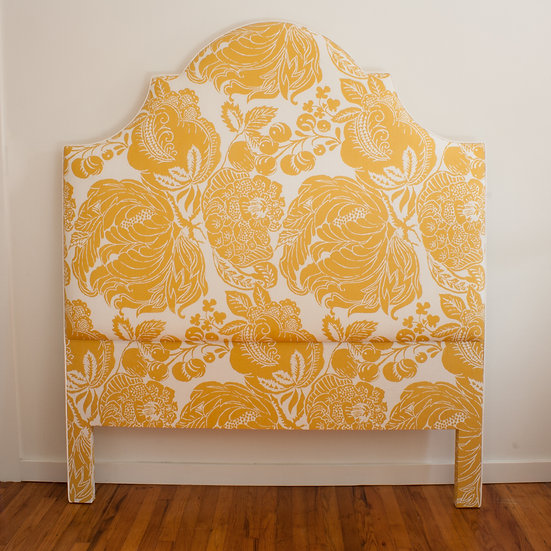 Yellow and White Floral Headboard