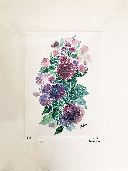 """Hydrangeas in glory"""