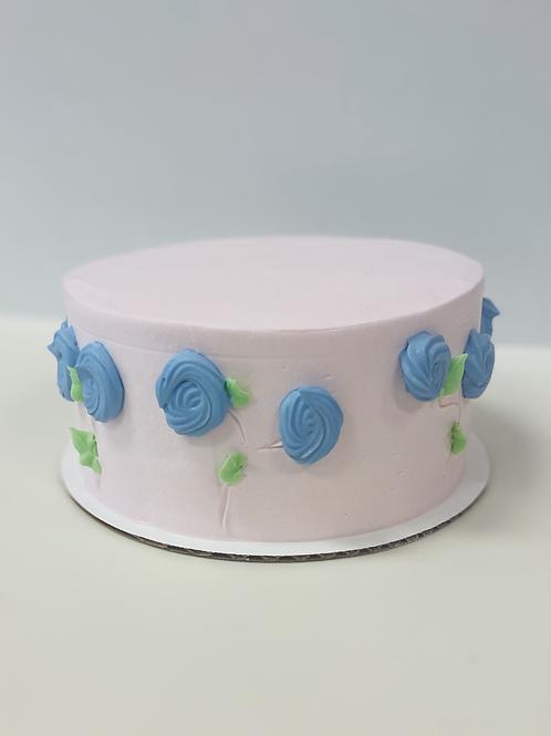 """Vintage Floral Mother's Day 8"""" Cake"""