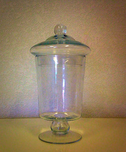 Clear Glass Apothecary Jar