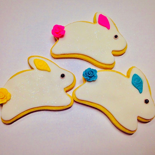 A dozen of Easter Bunny Handcrafted Cookies - Delivery Only (Austin)