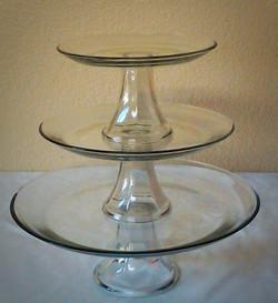 Basic Clear Glass Dessert Stands