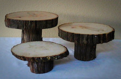 Rustic Wood Slice Cake Stands