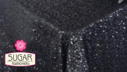 Black Sequin Linen