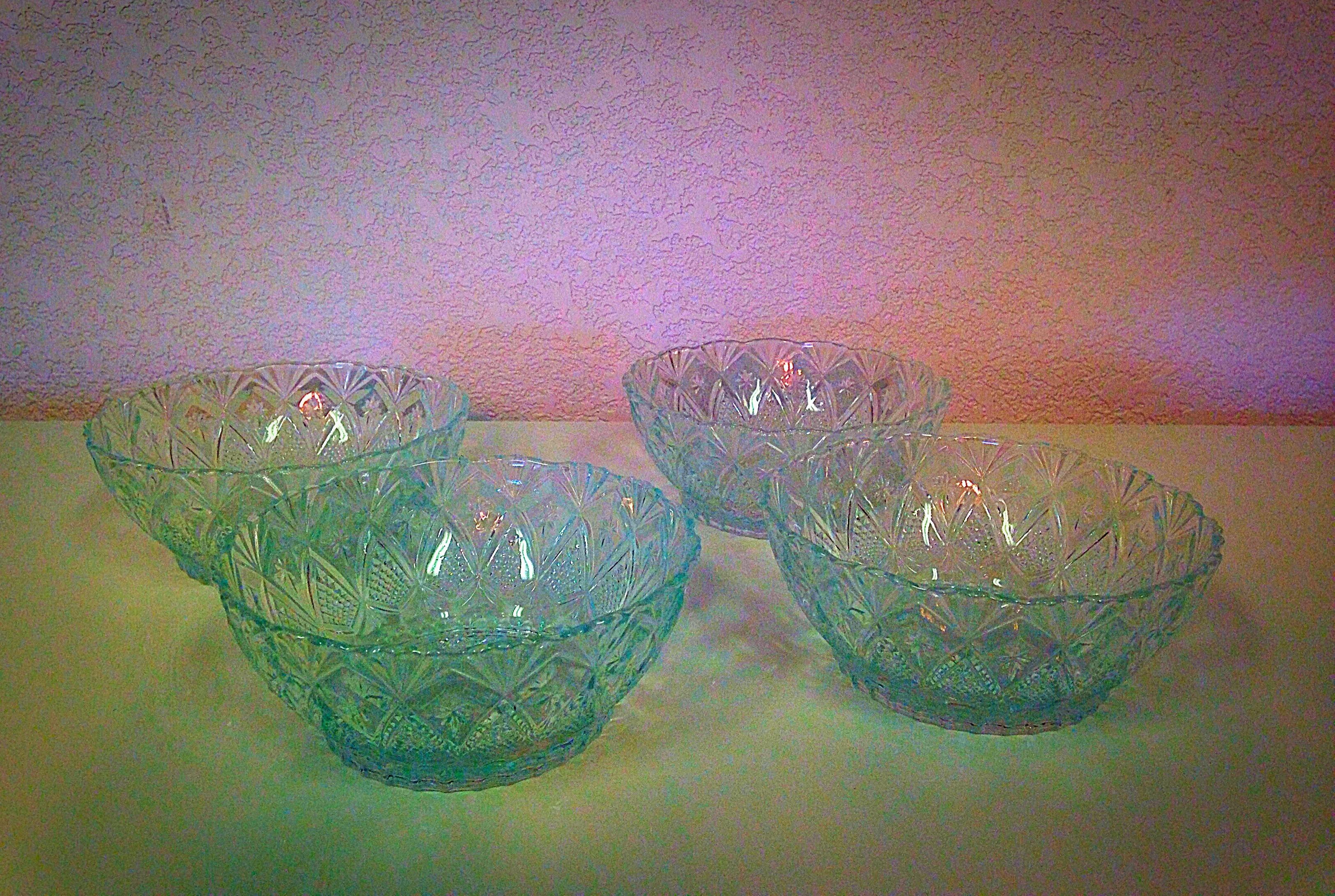 Vintage Clear Glass Bowls