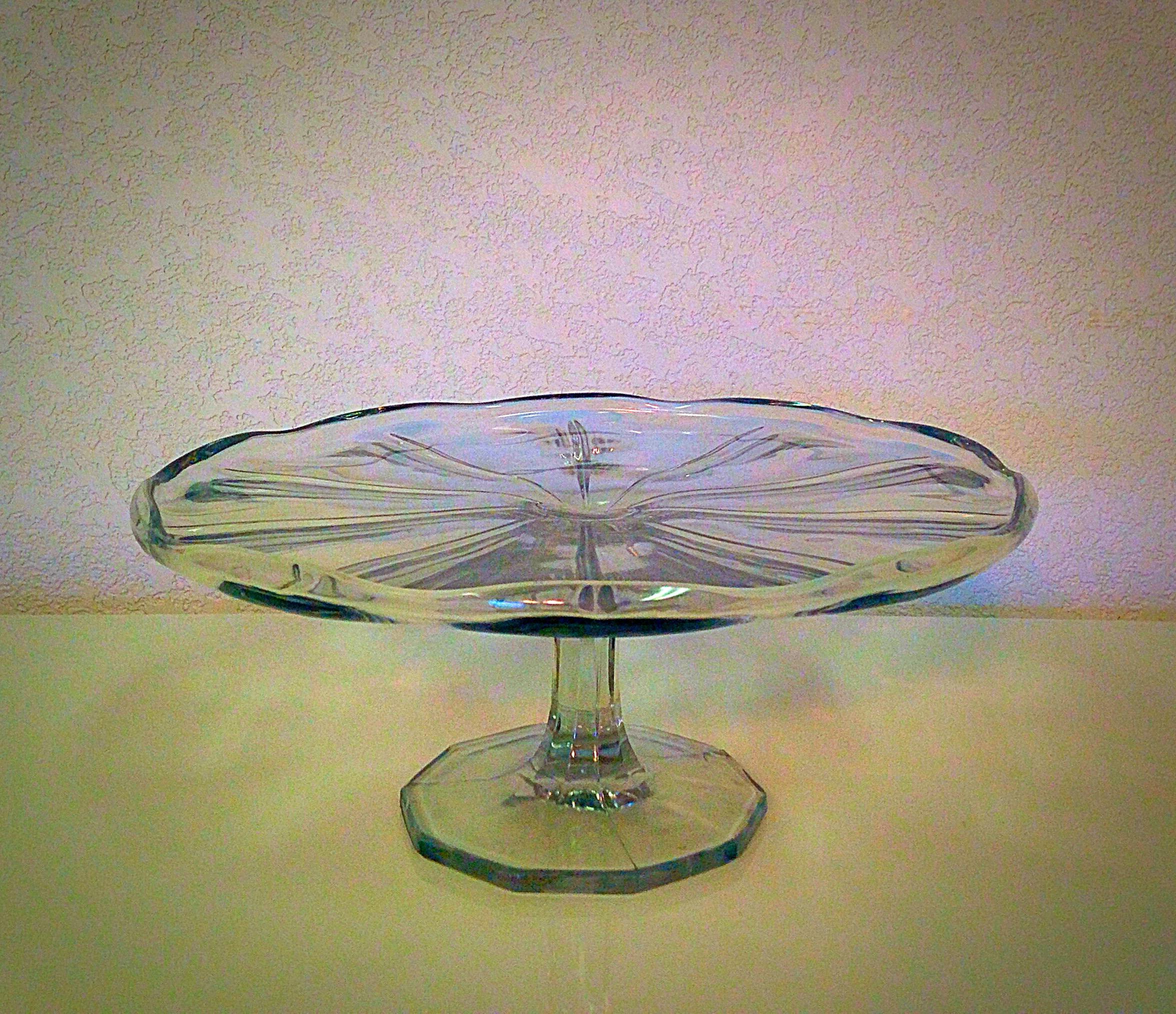 Vintage Clear Glass Dessert Stand