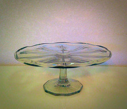 Vintage Clear Glass Dessert Stand
