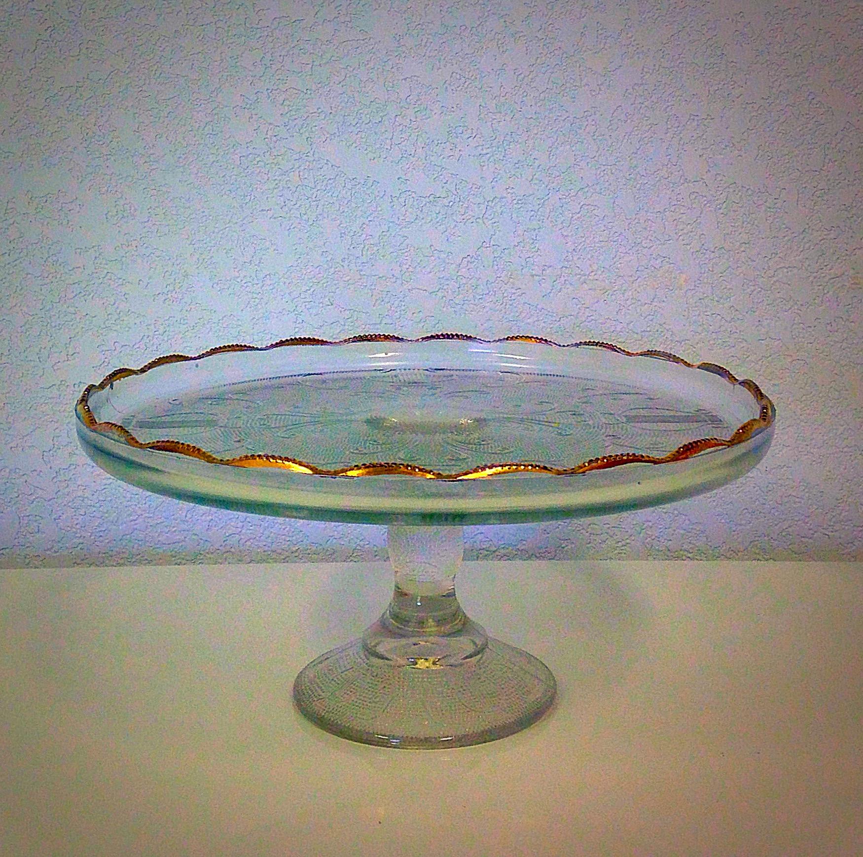 Vintage Gold Dessert Stand