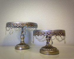 Antique Silver Beaded Dessert Stand