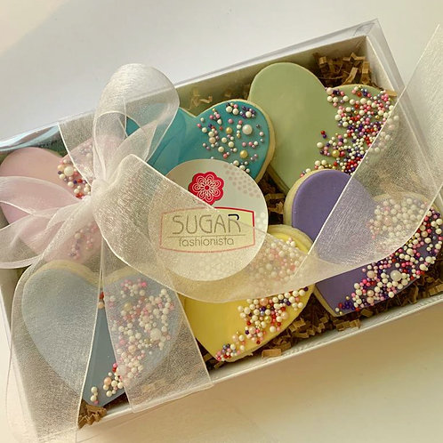 Vintage Color Hearts Cookie Box