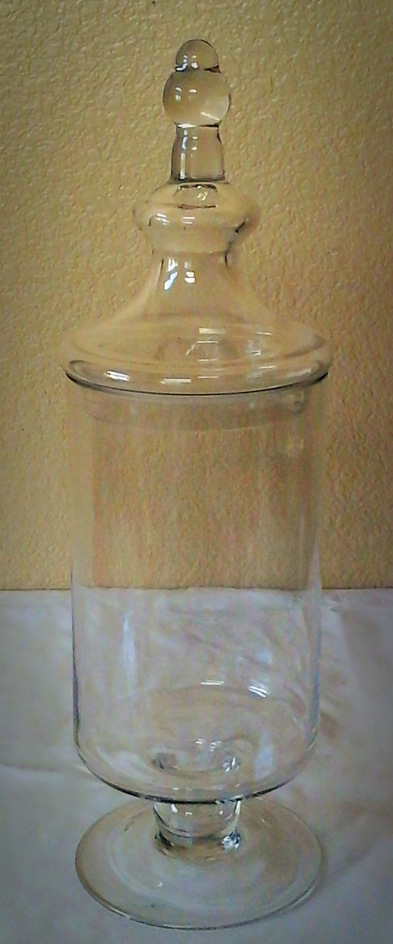 Large Clear Glass Apothecary Jar