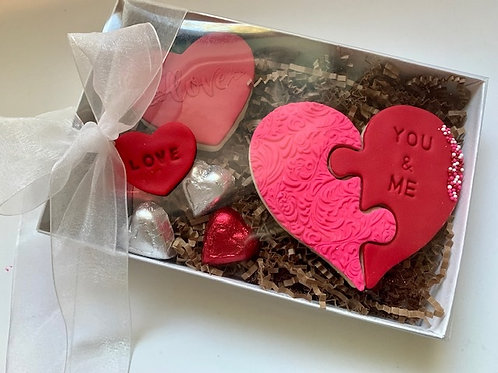 Valentine's Day Hear Puzzle Cookies Box - Delivery Only (Austin)