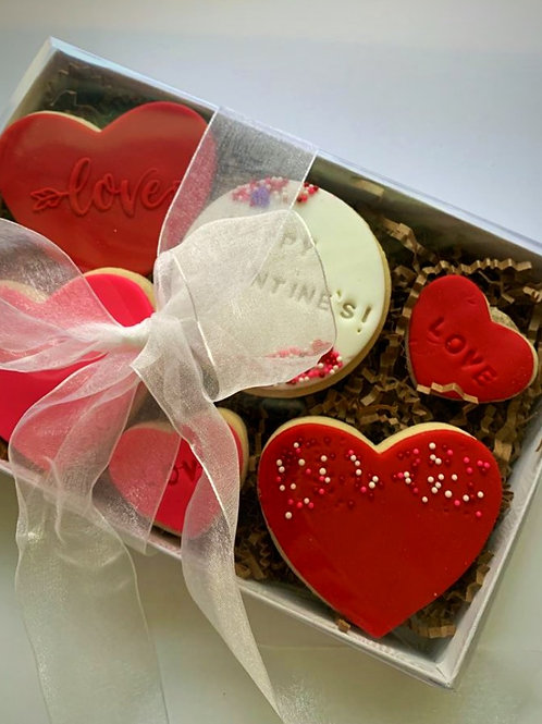 Valentine's Day Cookies Box - Delivery Only (Austin)