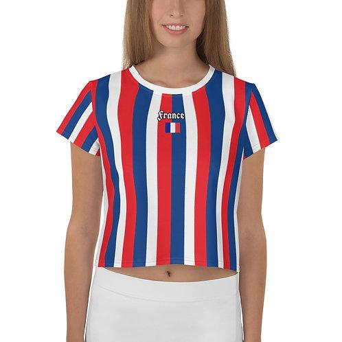 T-shirt Crop-Top imprimé all over France
