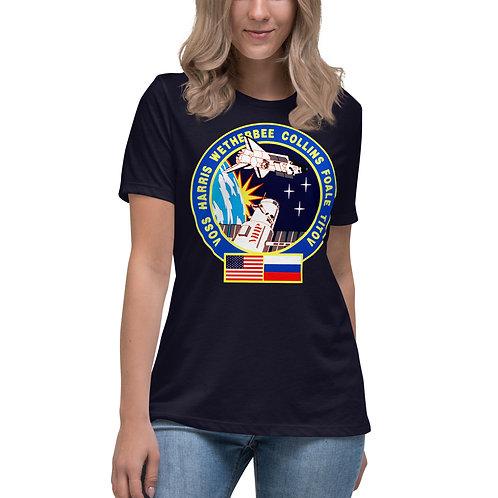 T-shirt Décontracté pour Femme Espace USA/RUS