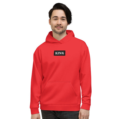 Sweat à Capuche Unisexe King rouge