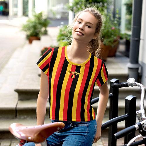 T-shirt Crop-Top imprimé all over Belgique