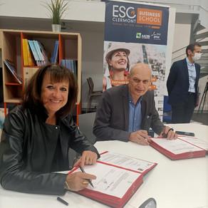 Signature pour la 4ème année d'un partenariat avec l'ESC Clermont-Fd