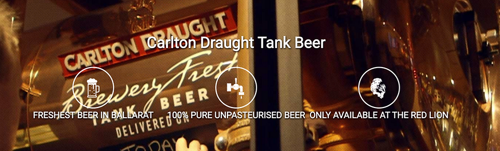 Carlton Draught Tank Beer, The Red Lion Hotel
