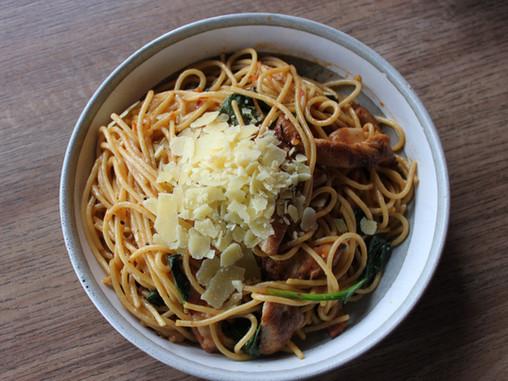 Chilli Chicken Spaghetti at Home!