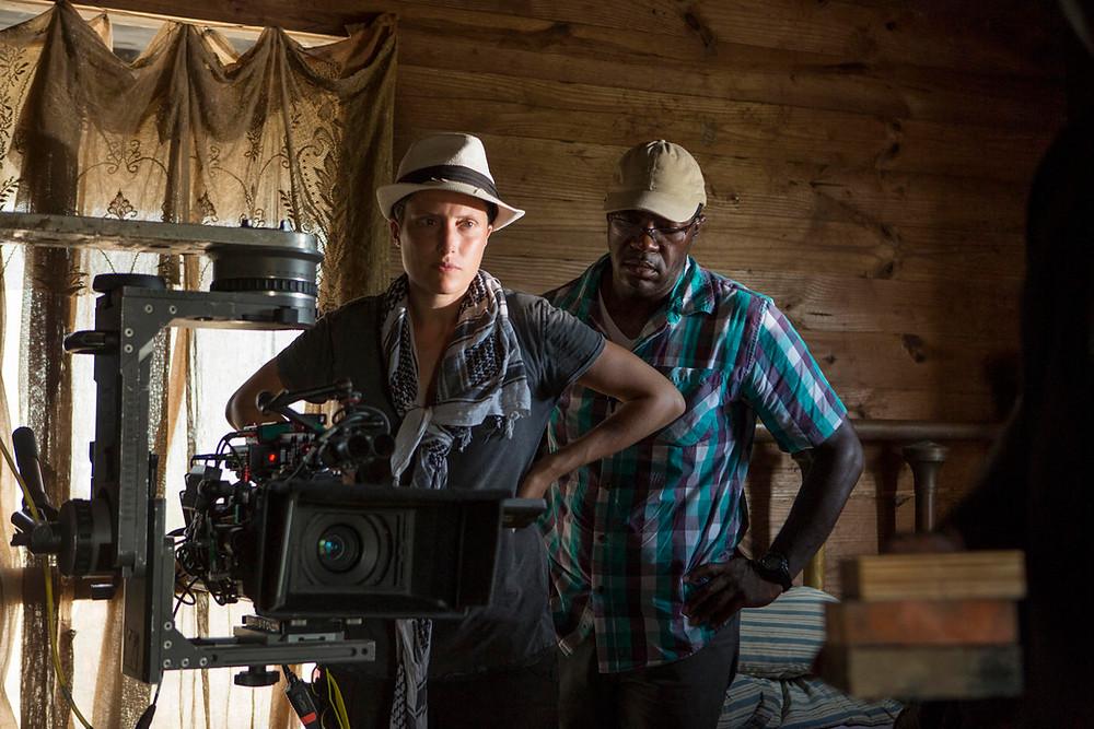 "Rachel Morrison on the set of ""Mudbound."" Photograph by Steve Dietl / Netflix"