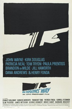 See the classic John Wayne film 'In Harm's Way' Tomorrow Night