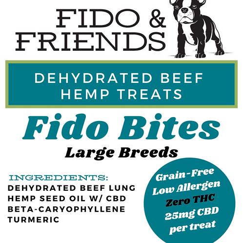 Fido & Friends Fido Bites 25 mg Beef CBD Treats