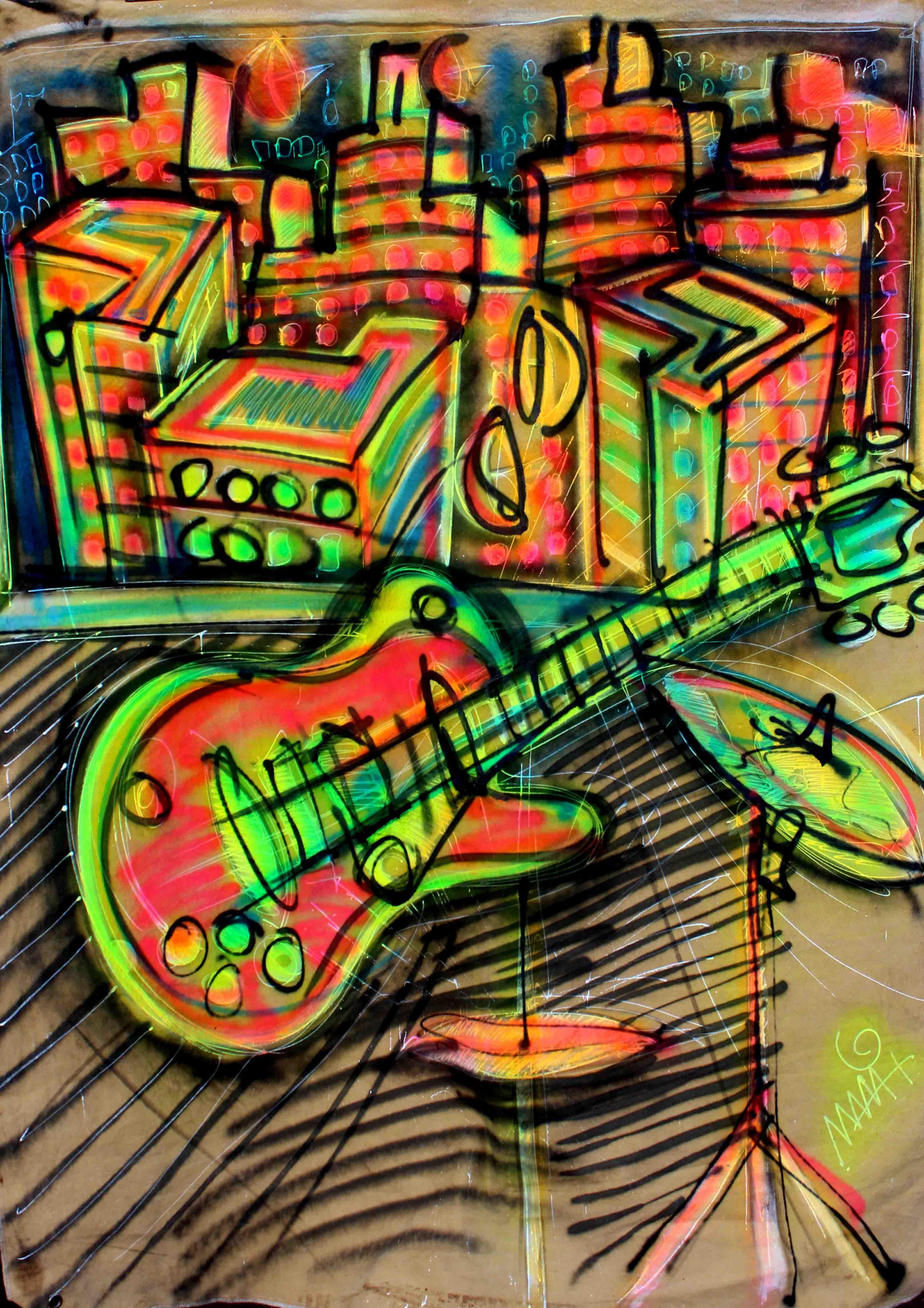 Guitarra e bateria
