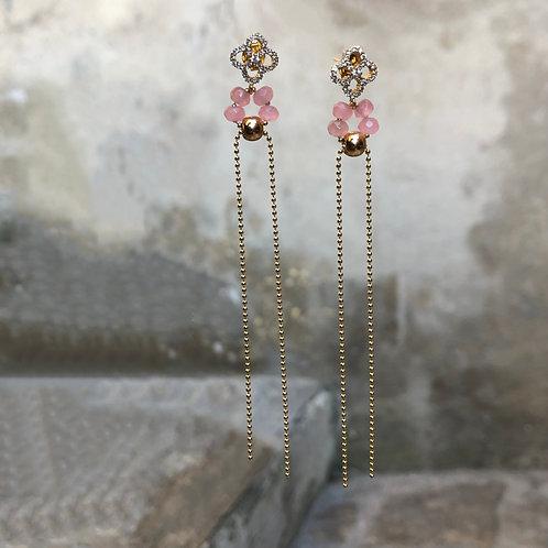 Boucles d'oreilles Lolita roses