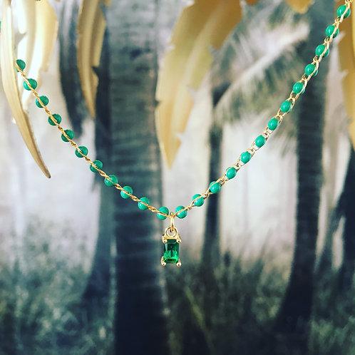 Collier Agatea vert