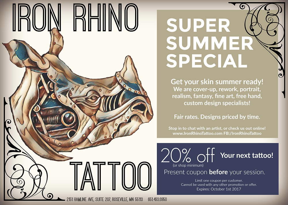 Print or show this before getting your tattoo!