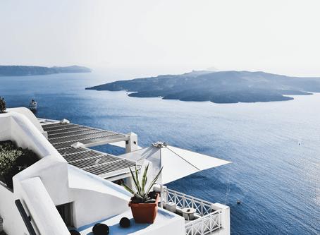 When in Santorini...