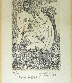 """Karel Zelenko, """"Adam in Eva"""""""
