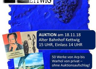 KUNST für KUNST: Ungewöhnliche Benefiz-Auktion am 18.11. ab 15 Uhr im Alten Bahnhof Kettwig