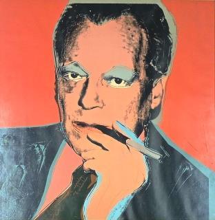 Andy Warhol, Ausstellungsplakat Willy Brandt