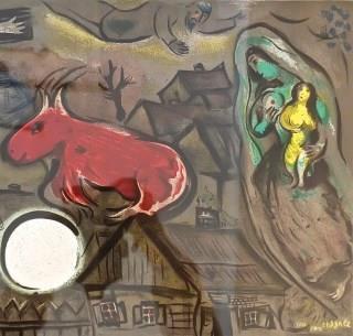 Marc Chagall, Christus, Roter Ochse und Madonna