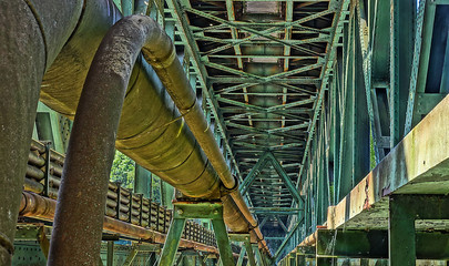 Eisenbahnbrücke über den kettwiger Stausee