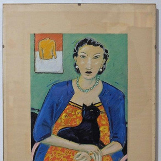 Anne Heseler, Dame mit Katze