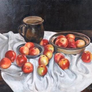 """Werner Freise, """"Stilleben mit Äpfeln"""""""